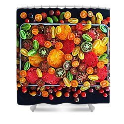 Heirloom Tomato Medley Shower Curtain