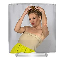 Helen In Party Dress Shower Curtain