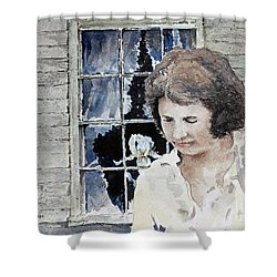 Helen Shower Curtain by Monte Toon