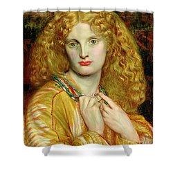 Helen Of Troy Shower Curtain by Dante Charles Gabriel Rossetti