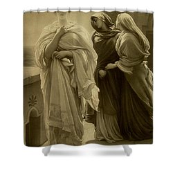 Helen Of Troy Shower Curtain by Frederic Leighton