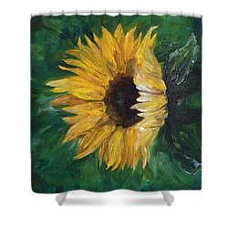 Shower Curtain featuring the painting Helianthus by Melinda Cummings