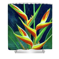 Heliconia Flowers #249 Shower Curtain by Donald k Hall