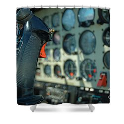Helicopter Cockpit Shower Curtain by Micah May