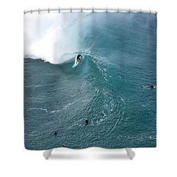 Tubed From Above. Shower Curtain