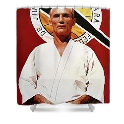 Helio Gracie - Famed Brazilian Jiu-jitsu Grandmaster Shower Curtain by Daniel Hagerman