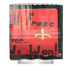 Hell Froze Shower Curtain by Lauri Novak