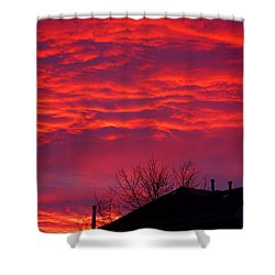 Shower Curtain featuring the photograph Hell Over Ontario by Valentino Visentini
