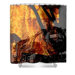 Hell Train Shower Curtain