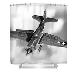 Helldiver Shower Curtain