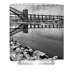 Hellgate Half Reflection Shower Curtain