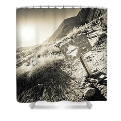 Shower Curtain featuring the photograph Hellhole Canyon Warning by T Brian Jones