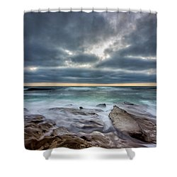 Hellishly Heavenly Shower Curtain by Peter Tellone