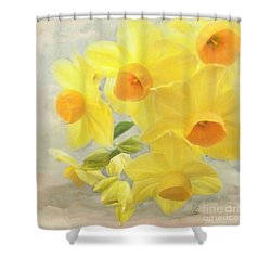 Hello February Shower Curtain