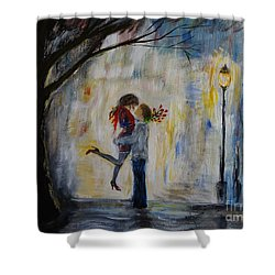 Hello Honey Shower Curtain by Leslie Allen