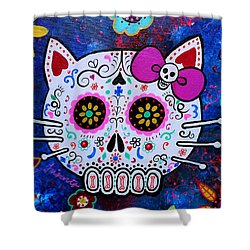 Kitty Day Of The Dead Shower Curtain