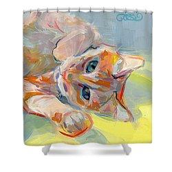 Hello Kitty Shower Curtain by Kimberly Santini