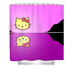Hello Kitty Sunrise Shower Curtain by George Pedro