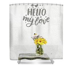 Shower Curtain featuring the photograph Hello My Love Card by Edward Fielding