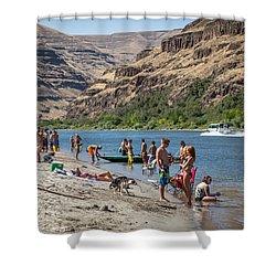 Hell's Canyon Beach Shower Curtain