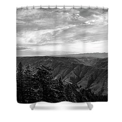 Hells Canyon Drama Shower Curtain