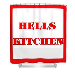 Hells Kitchen Red Shower Curtain