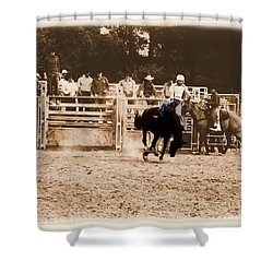 Helluva Rodeo-the Ride 2 Shower Curtain