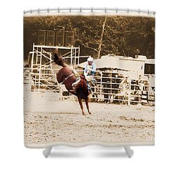 Helluva Rodeo-the Ride 3 Shower Curtain
