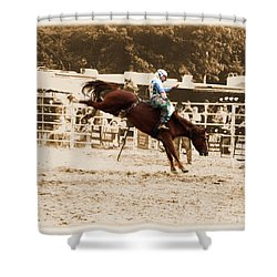 Helluva Rodeo-the Ride 4 Shower Curtain