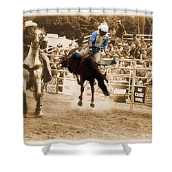 Helluva Rodeo-the Ride 5 Shower Curtain