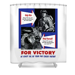 Help Him Help Yourself  Shower Curtain by War Is Hell Store