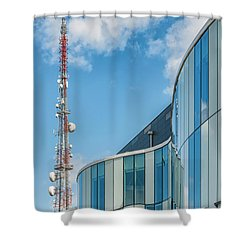 Shower Curtain featuring the photograph Helsingborg Arena Concert Hall by Antony McAulay