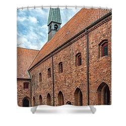 Shower Curtain featuring the photograph Helsingor Saint Mary Church by Antony McAulay
