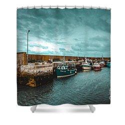 Helvick Harbour 2 Shower Curtain