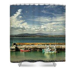 Helvick Harbour Shower Curtain
