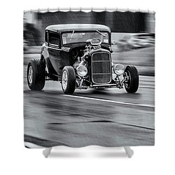 Hemi Powered 1932 Ford 5 Window Coupe Shower Curtain by Ken Morris