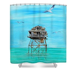 Hemingway Stilt House Shower Curtain