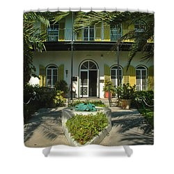 Hemingways House Key West Shower Curtain by Susanne Van Hulst