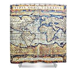 Hemisphere World  Shower Curtain