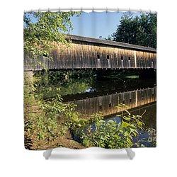 Hemlock Covered Bridge - Fryeburg Maine Usa. Shower Curtain by Erin Paul Donovan
