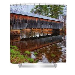 Hemlock Covered Bridge Fryeburg Maine Shower Curtain