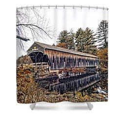 Hemlock Covered Shower Curtain by Richard Bean