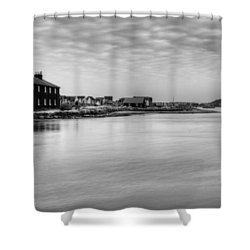 Hengistbury Huts Shower Curtain