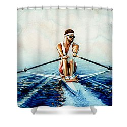 Henley On The Horizon Shower Curtain by Hanne Lore Koehler