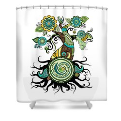 Henna Tree Of Life Shower Curtain