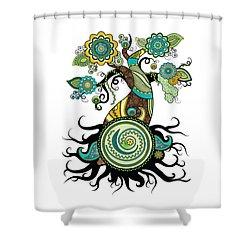 Henna Tree Of Life Shower Curtain