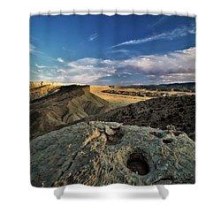Henry Mountain Wsa Shower Curtain by Leland D Howard
