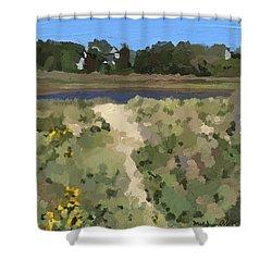 Henry's Pond, Rockport, Ma.  Shower Curtain by Melissa Abbott