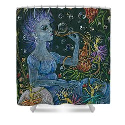 Her Caterpillar Majesty Shower Curtain by Dawn Fairies