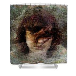 Her Dark Story Shower Curtain by Gun Legler